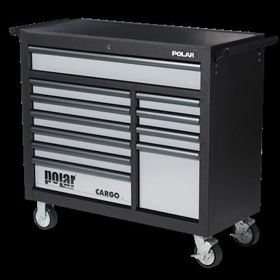 Absvejs.dk - Polar tools - cargo værktøjsvogn 11 skuffer