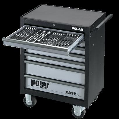 Absvejs.dk - Polar tools - easy 7skuffer værktøjsvogn med værktø j350dele