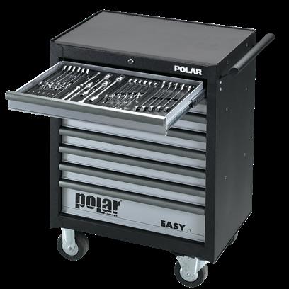 Absvejs.dk - Polar tools - easy 8 skuffer værktøjsvogn med værktøj
