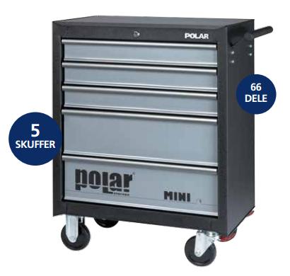 Absvejs.dk - Polar tools - mini værktøjsvogn med værktøj