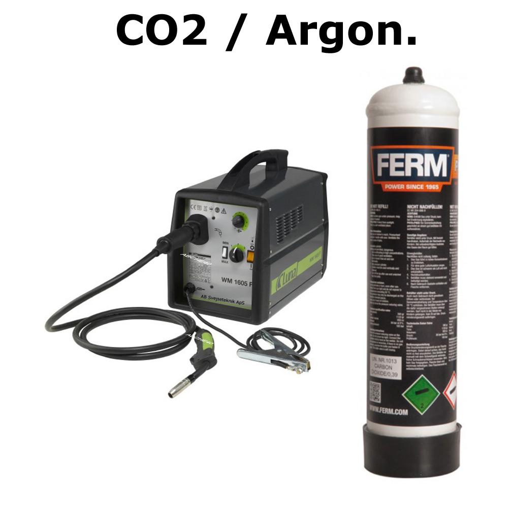Billed Co2 - argon med maskiner