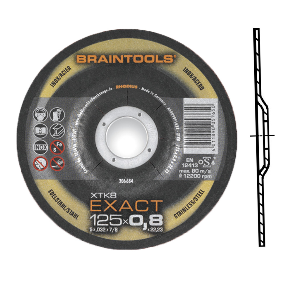 Braintools Exact XTK 125 x 0,8 mm