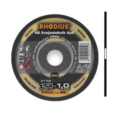 Rhodius Proline XT 38 125 x 1,0 mm ny
