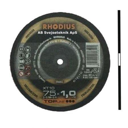 Rhodius Topline XT 10 75 x 1,0 x Ø 6,0 mm