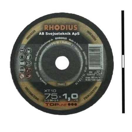 Rhodius Topline XT 10 75 x 1,0 x ø 10 mm