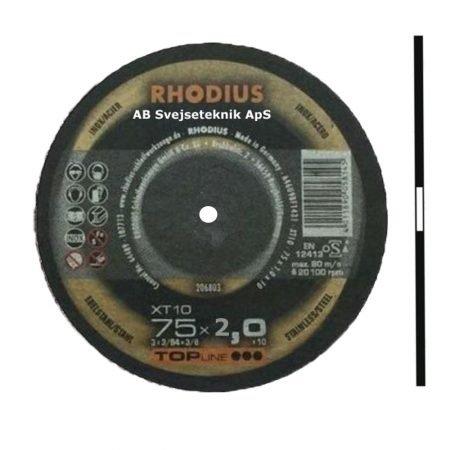 Rhodius Topline XT 10 75 x 2,0 x Ø 6,0 mm