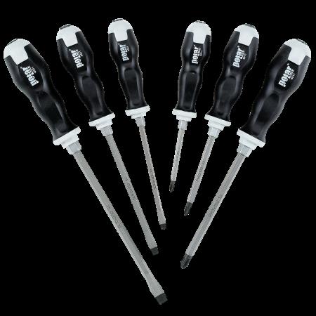 absvejs.dk - polar tools - Skruetrækkersæt, 6 stk. m/kap